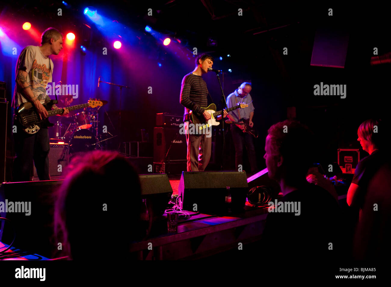 The U.S. Hawaiian band Chokebore live in the Schueuer venue, Lucerne, Switzerland - Stock Image