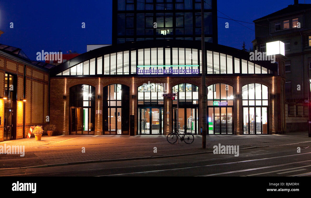 Publishing house and editorial department of the Frankfurter Rundschau newspaper, Depot Sachsenhausen in the south - Stock Image