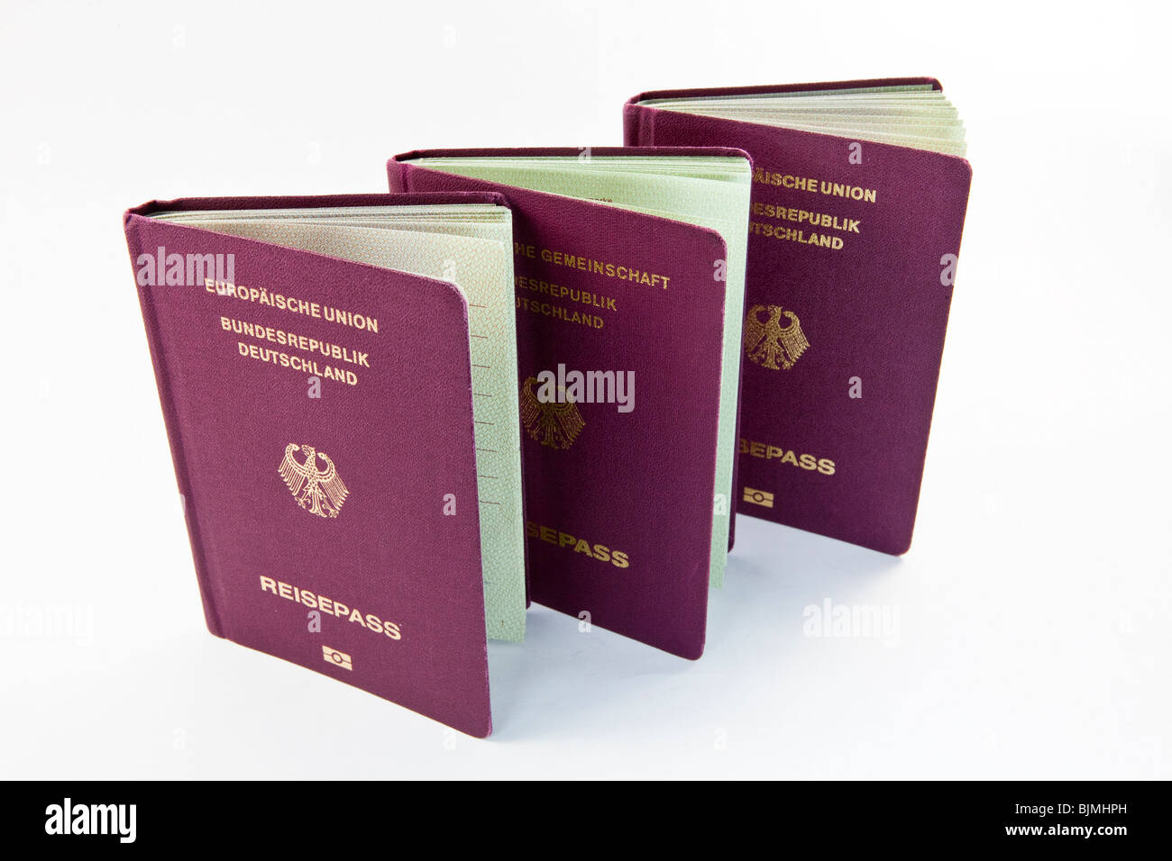 Passports, European Union Federal, Republic of Germany - Stock Image
