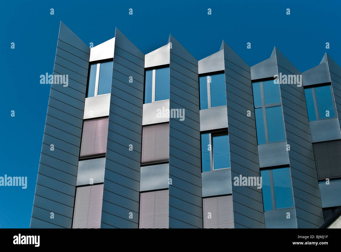 Westhafen Pier, office and event building, Westhafen, Frankfurt, Hesse, Germany, Europe - Stock Image