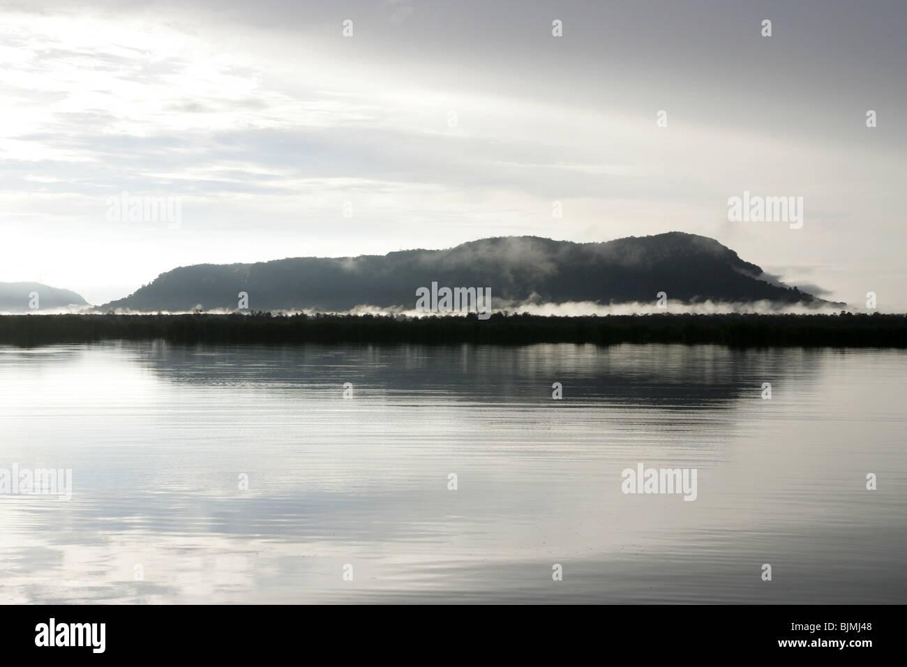 Lake Sentarum, Kapuas River, West Kalimantan, Borneo, Indonesia - Stock Image