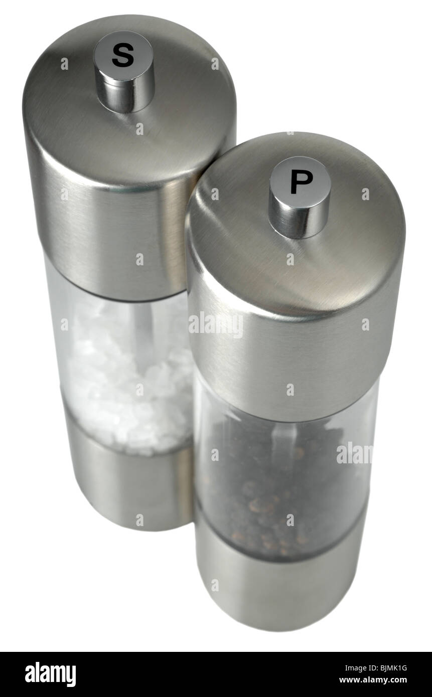 Salt and Pepper, 'salt and pepper pots' 'salt and pepper mills' - Stock Image