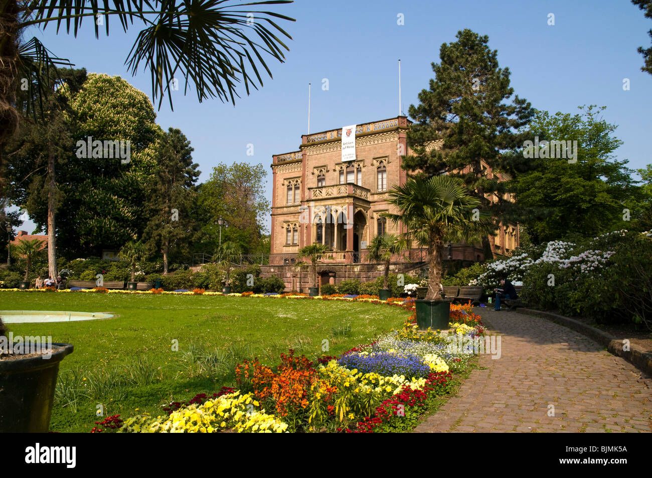 Colombischloessle House in Colombipark, Freiburg im Breisgau, Baden-Wuerttemberg, Germany, Europe Stock Photo