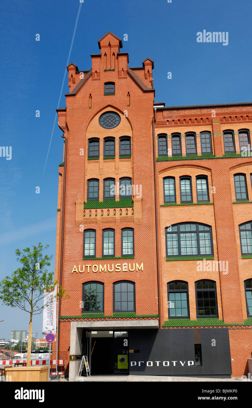 Automuseum Prototyp car museum at the Lohseplatz square in the Hafencity quarter in Hamburg, Germany, Europe Stock Photo