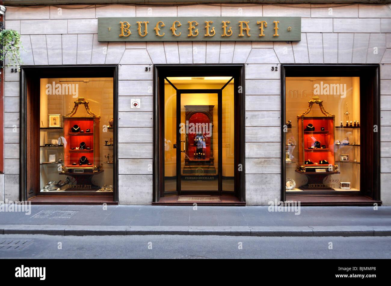 Buccellati jewelry store, Via dei Condotti, Rome, Lazio, Italy, Europe - Stock Image