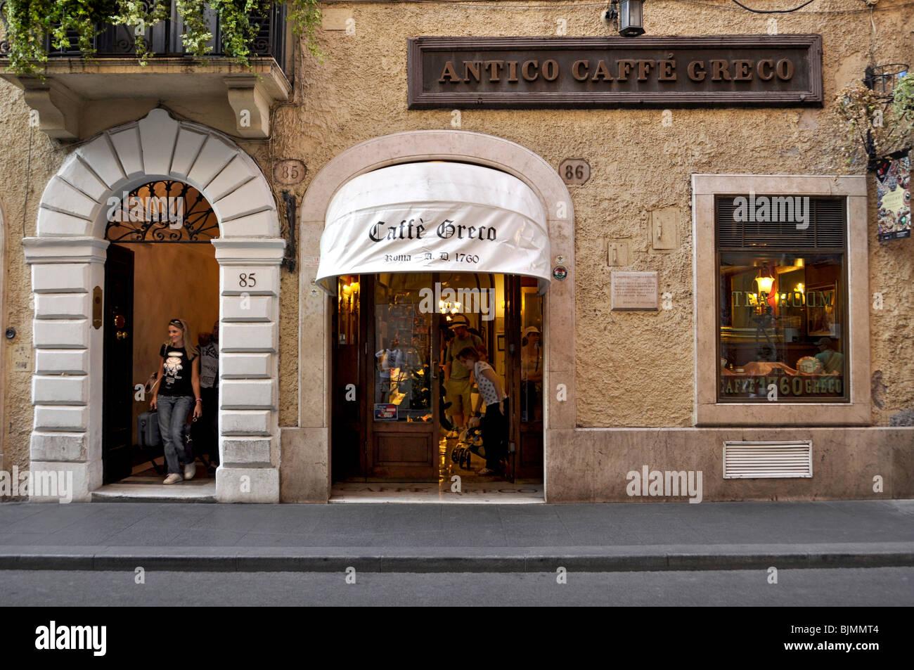 Antico Caffè Greco, Via dei Condotti, Rome, Lazio, Italy, Europe - Stock Image