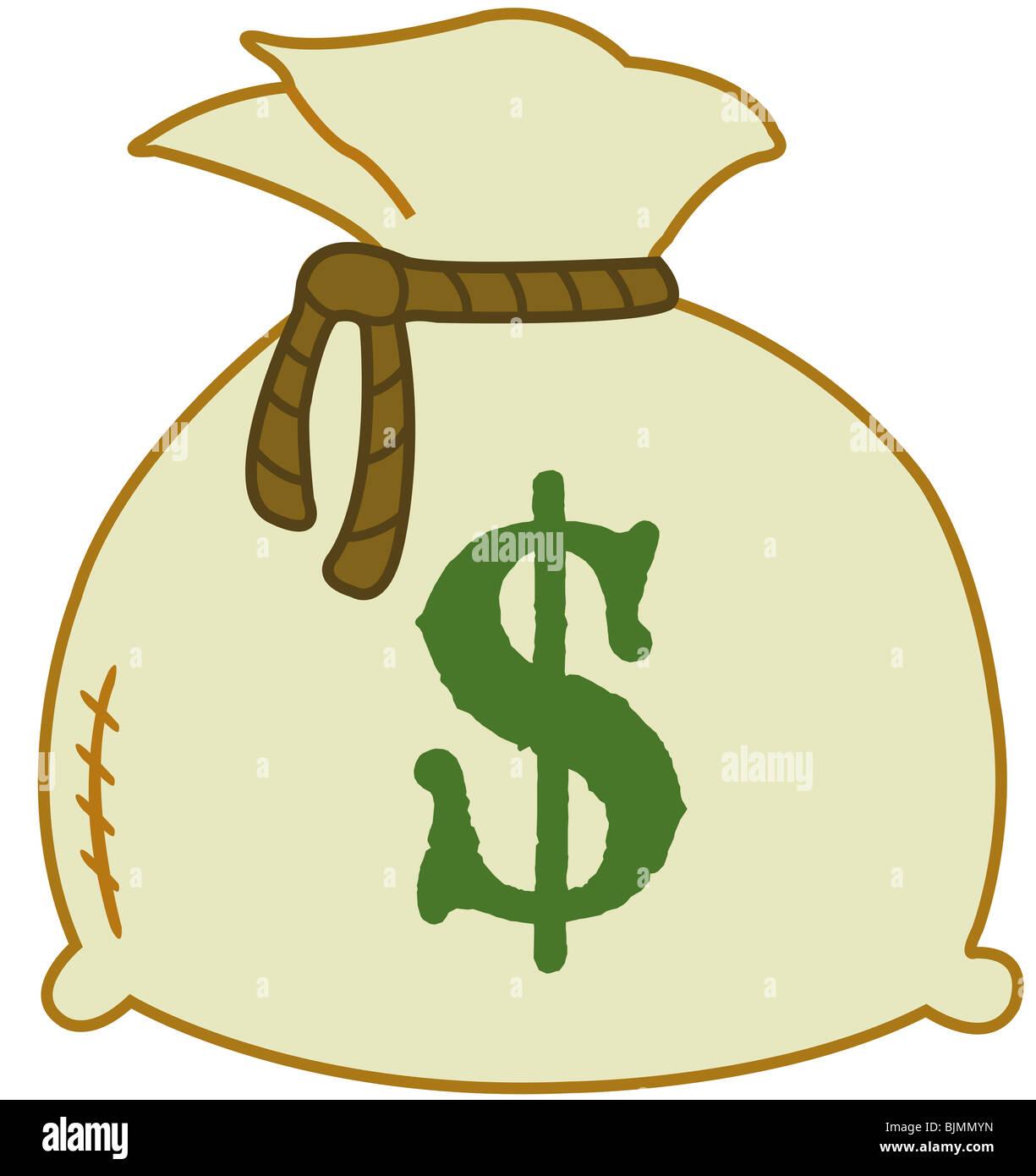 Money Bag With Euro Sign Illustration Stock Photo 28729673 Alamy