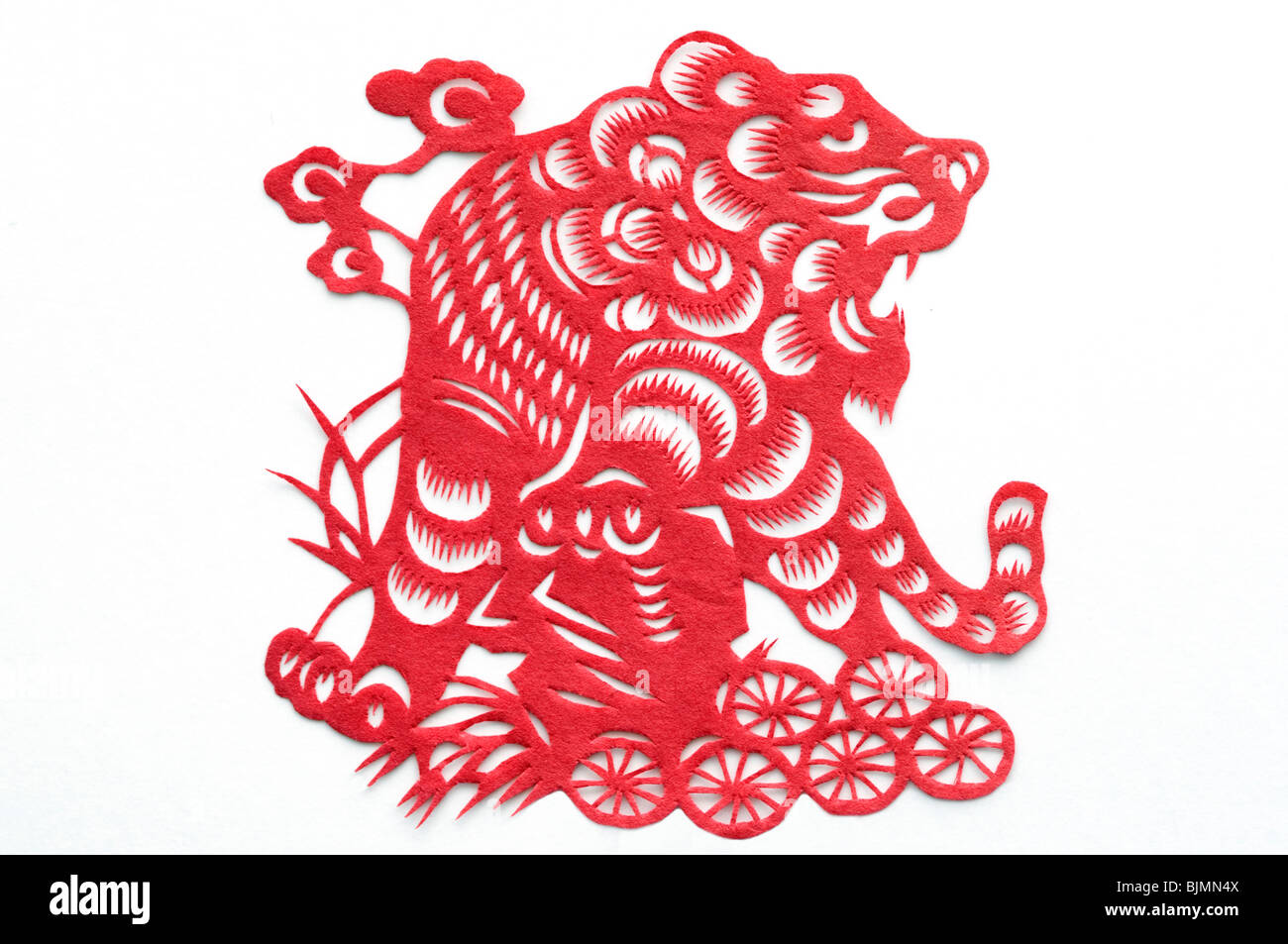 Year Of The Tiger Chinese New Paper Cut Decoration