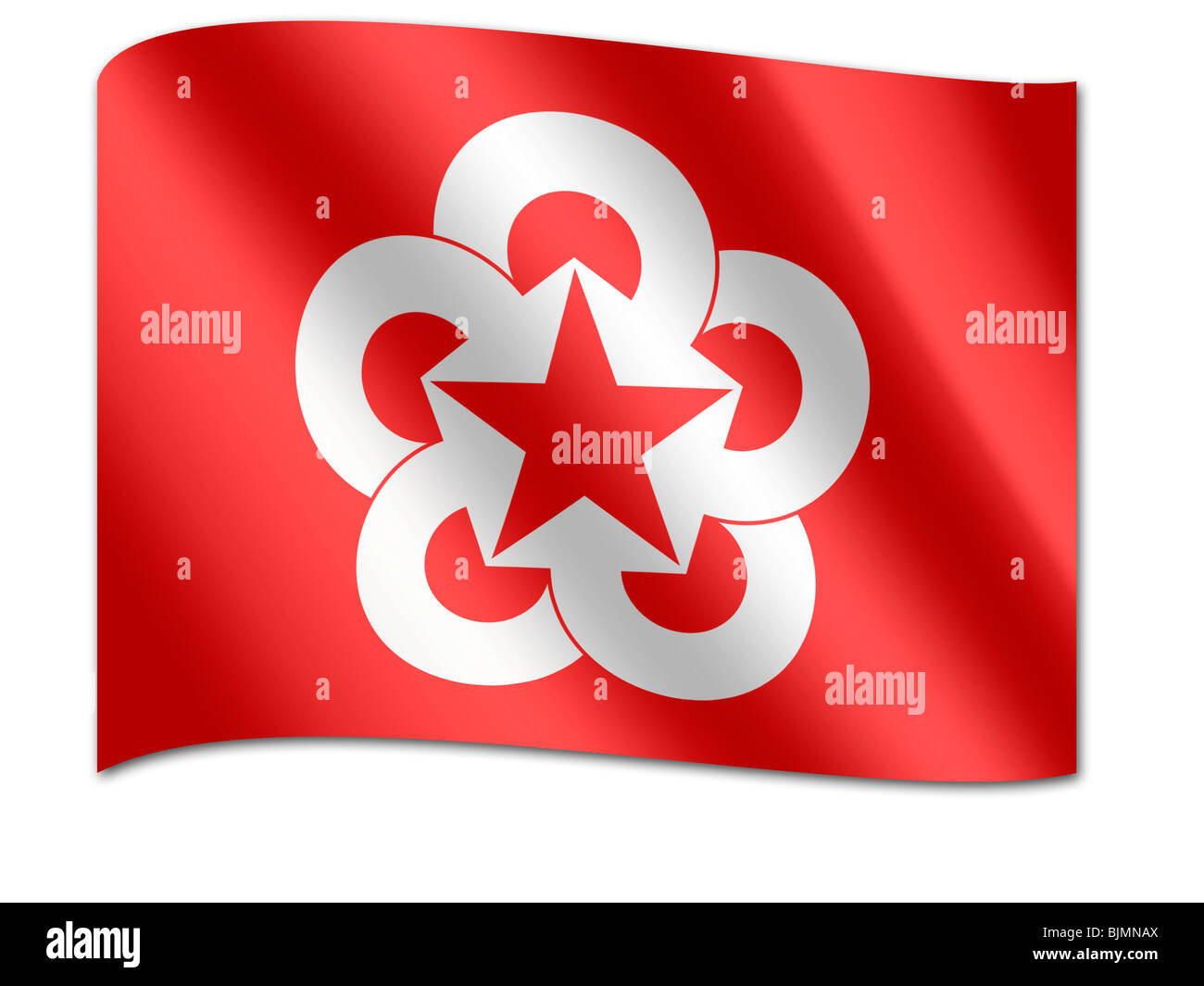 Flag of the Council for Mutual Economic Assistance, CMEA - Stock Image
