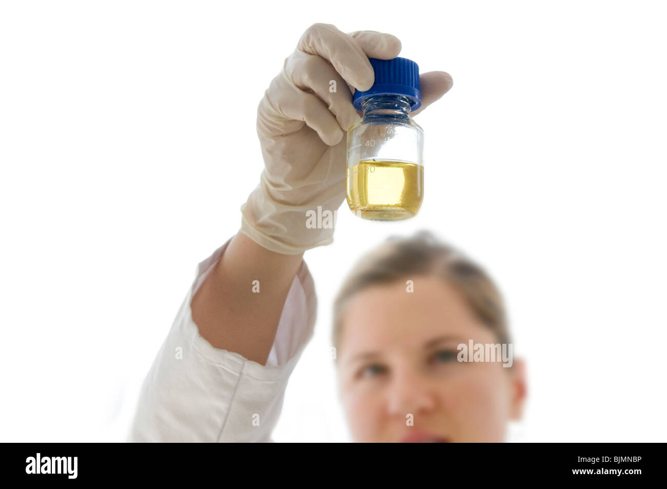 Laboratory scene in a lab for genetic analysis - Stock Image