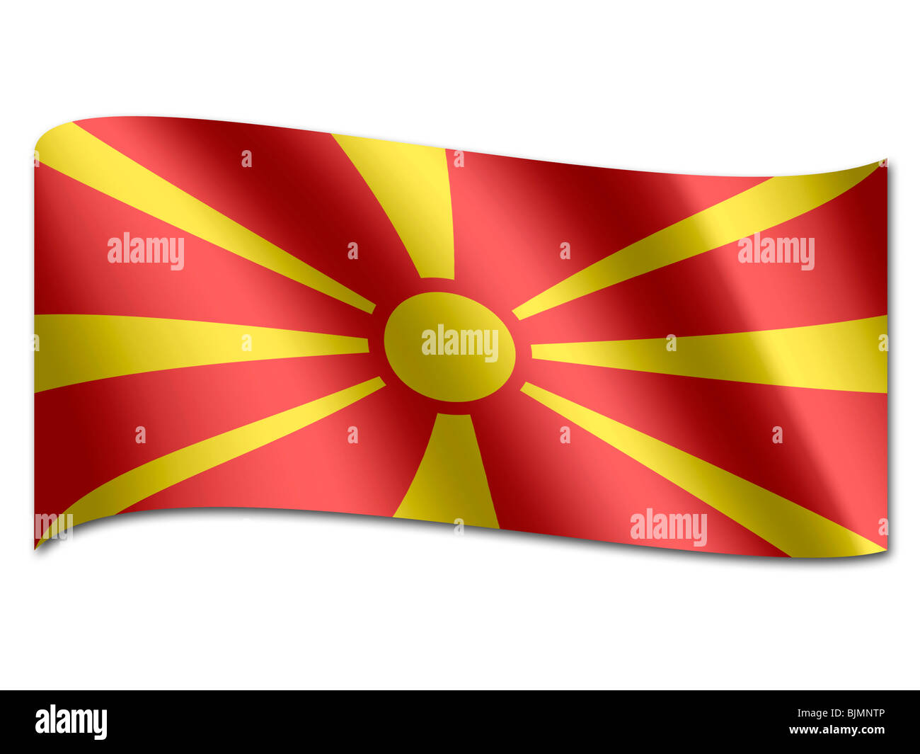 Flag of Macedonia - Stock Image