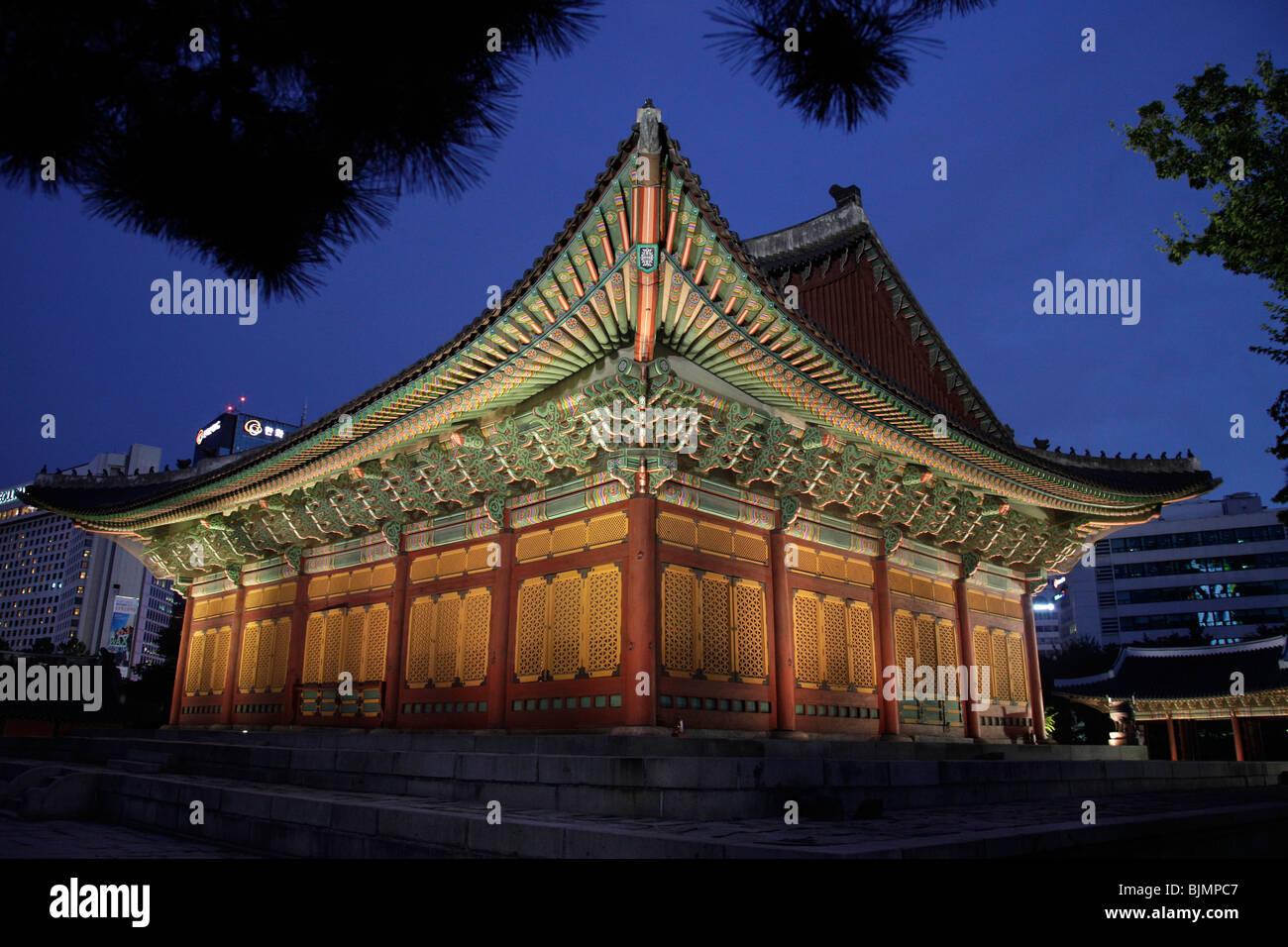 Deoksugung royal palace, Palace of Longevity, Korean capital Seoul, South Korea, Asia - Stock Image