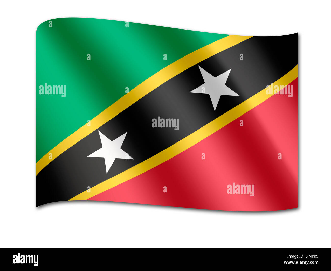 Flag of St. Kitts und Nevis - Stock Image