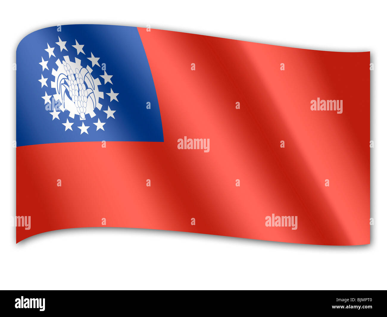 Flag of Myanmar - Stock Image
