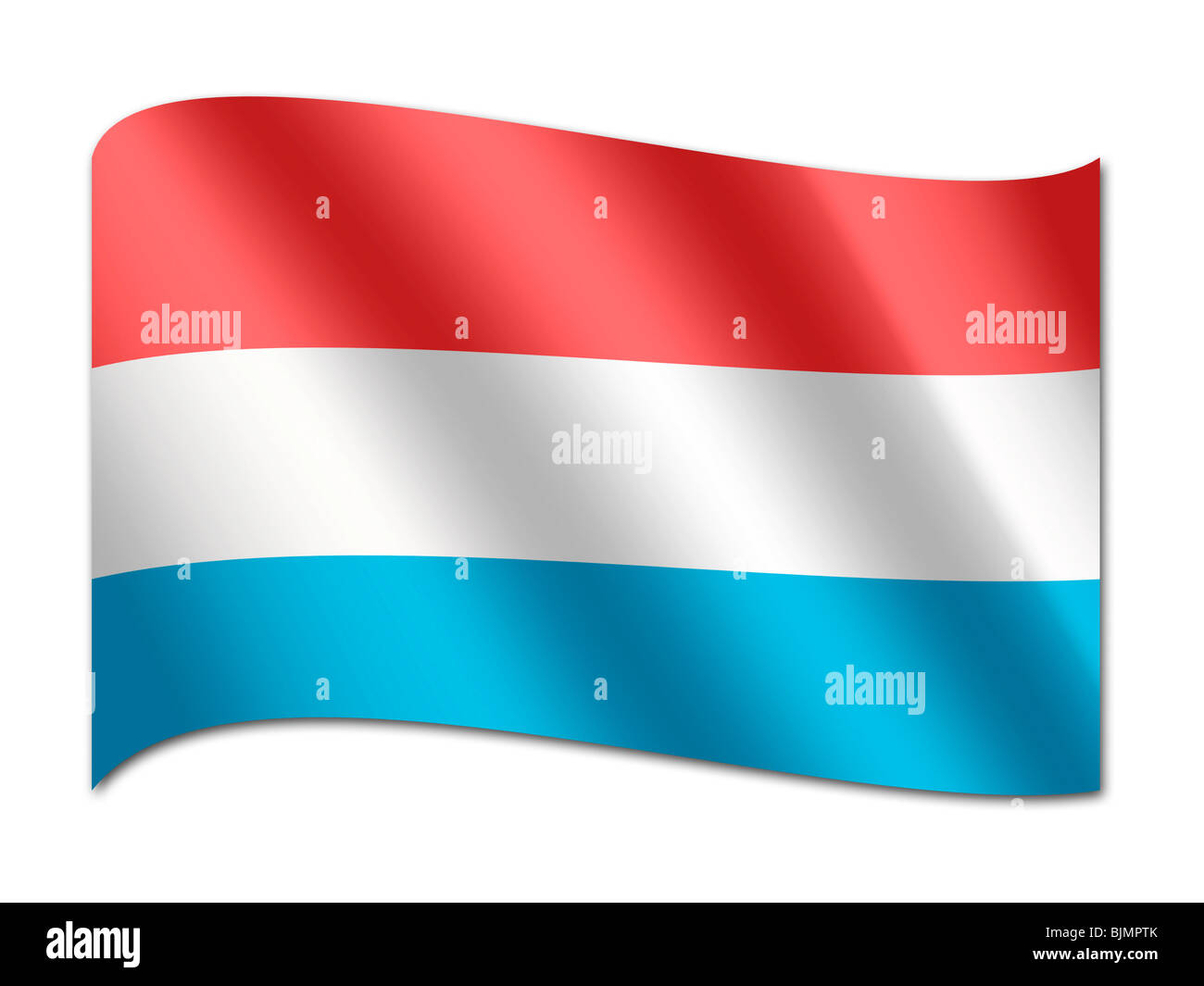 Flag of Luxembourg - Stock Image