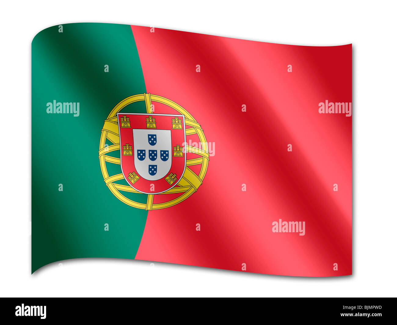 Flag of Portugal - Stock Image