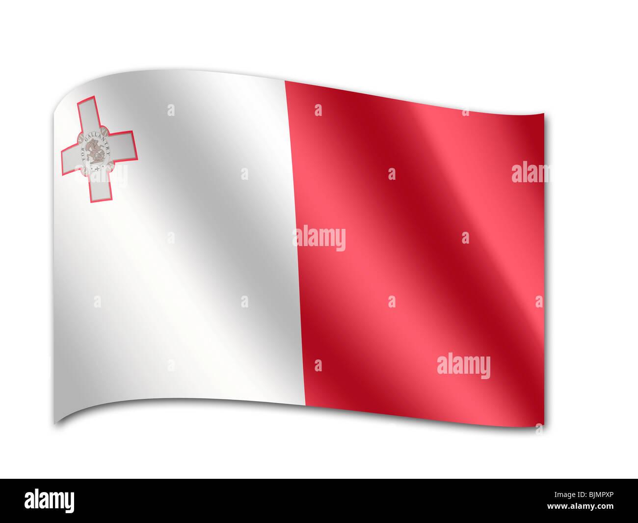 Flag of Malta - Stock Image