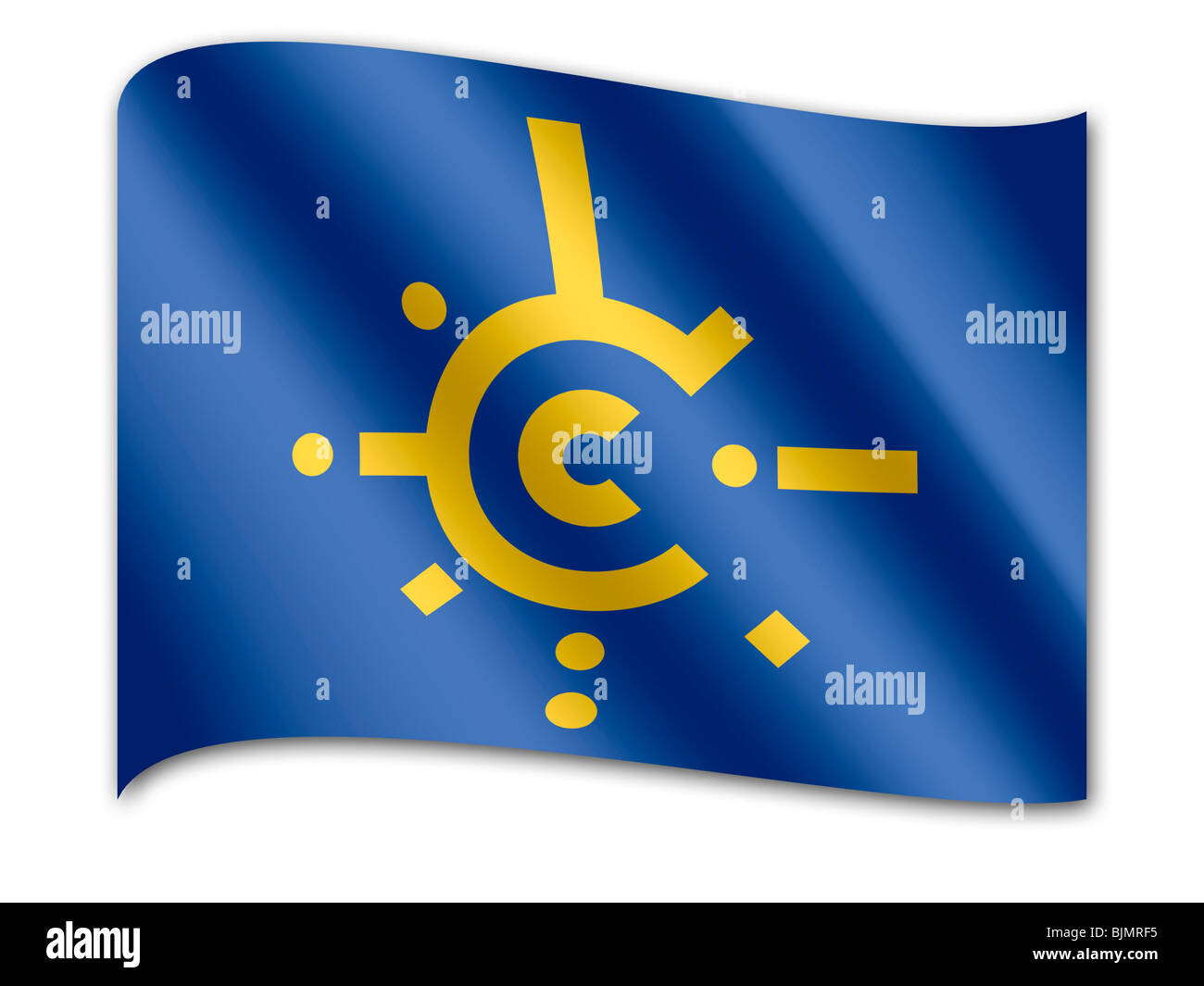 Flag of Central European Free Trade Agreement, CEFTA - Stock Image