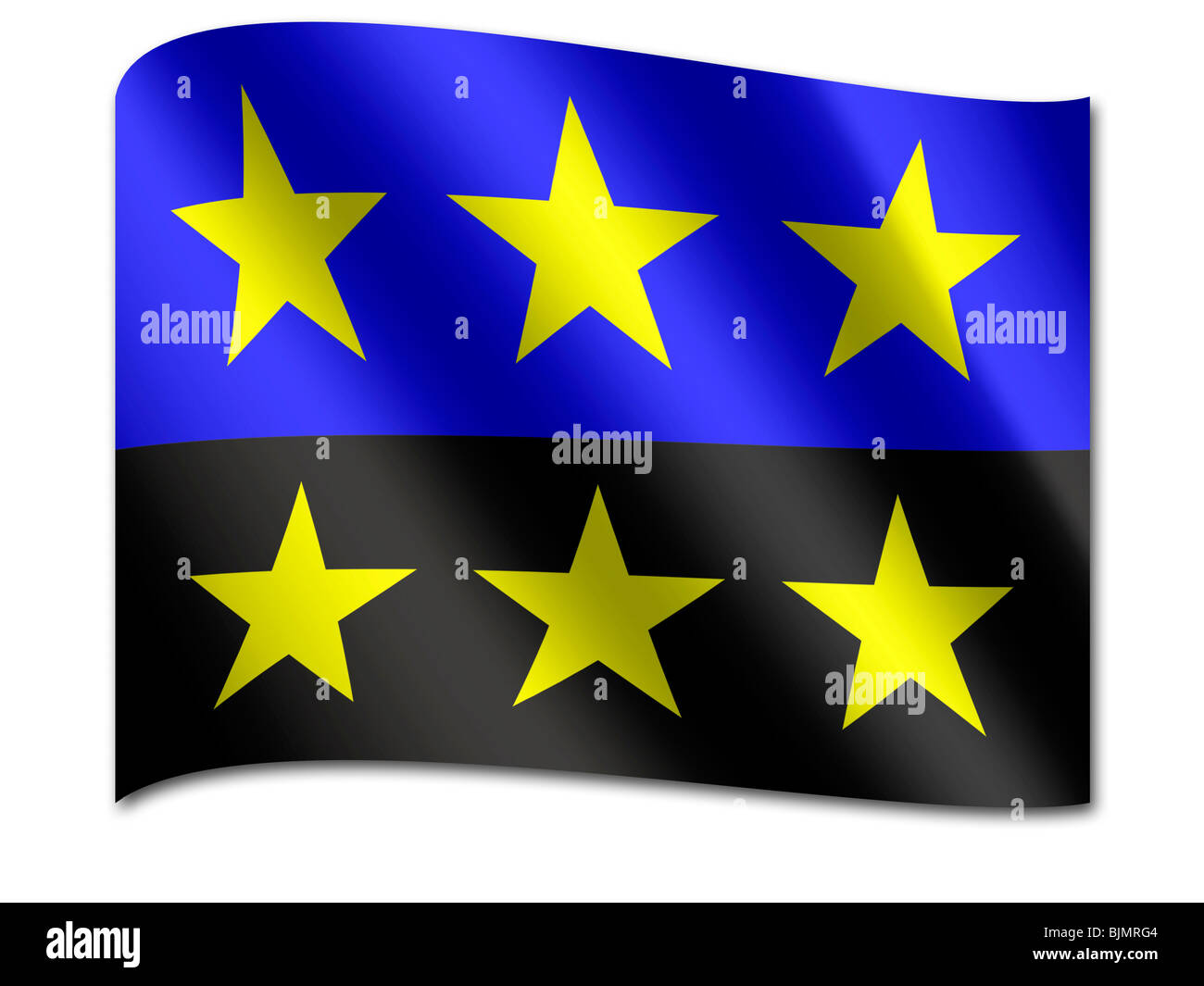 Flag of the European Coal and Steel Community - Stock Image