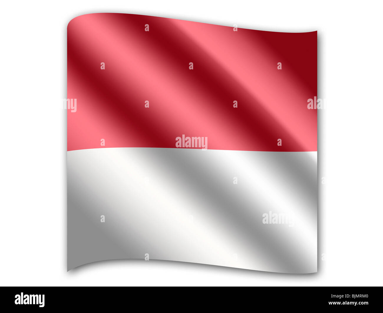 Flag of Monaco - Stock Image