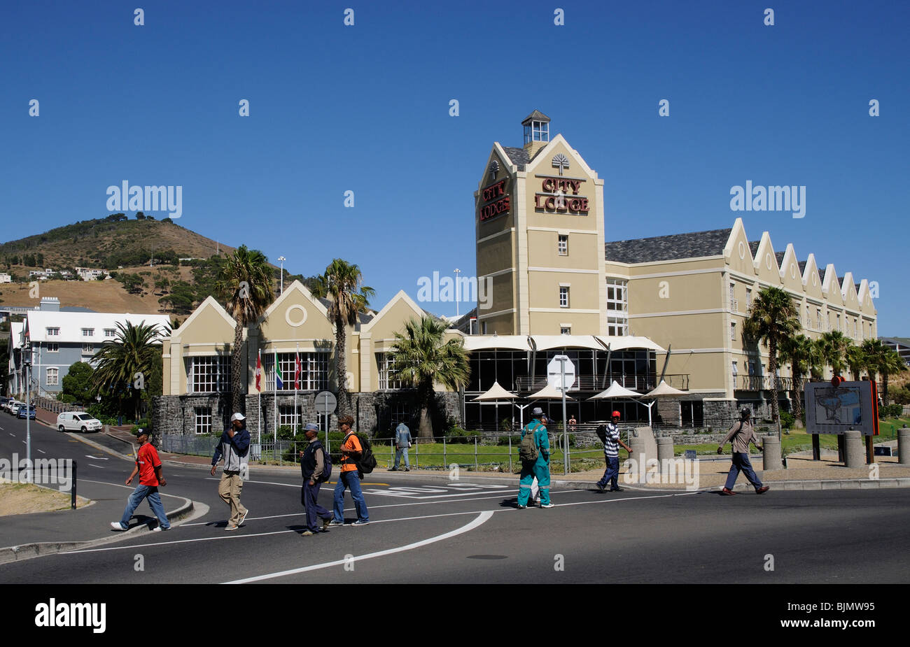 City Lodge Hotel on Dock Road at the gateway of the V&A waterfront development Cape Town South Africa - Stock Image