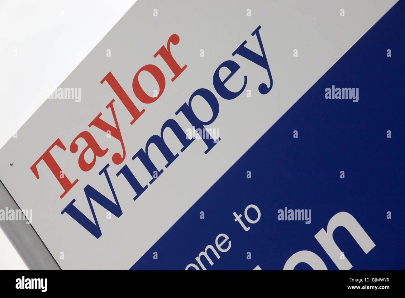 Taylor Wimpey Sign On A Development Site - Stock Image