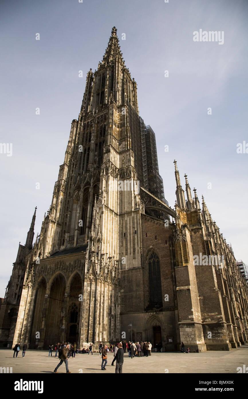 Ulm Munster, in Germany, undergoes renovations. Stock Photo