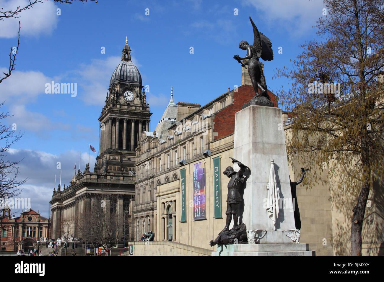 Leeds Town Hall, Leeds, England, U.K. - Stock Image