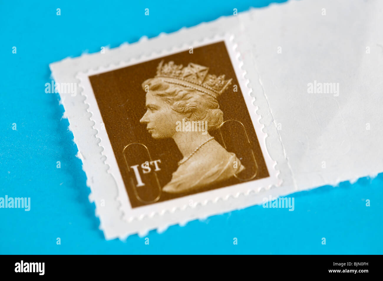 British first class postage stamp.  Editorial use only - Stock Image