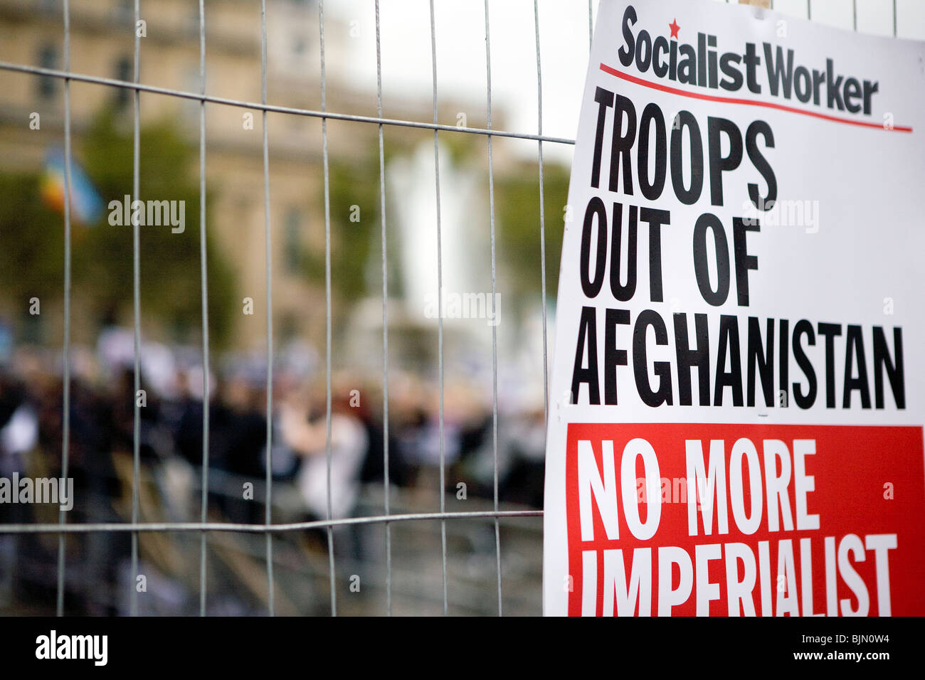 2009 anti war protest in London. - Stock Image