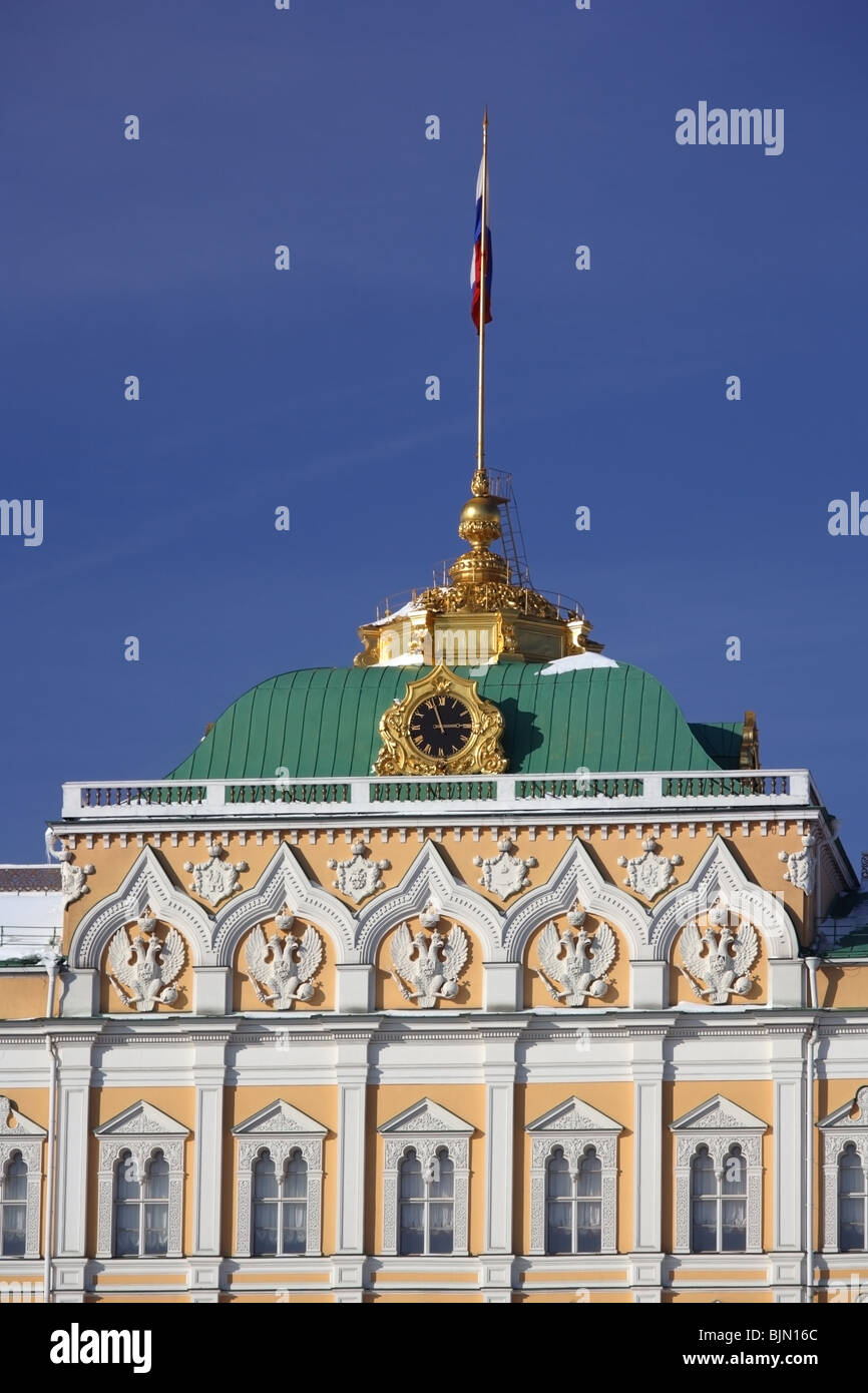 Top of The Grand Kremlin Palace (President Palace) in Moscow, Russia. - Stock Image