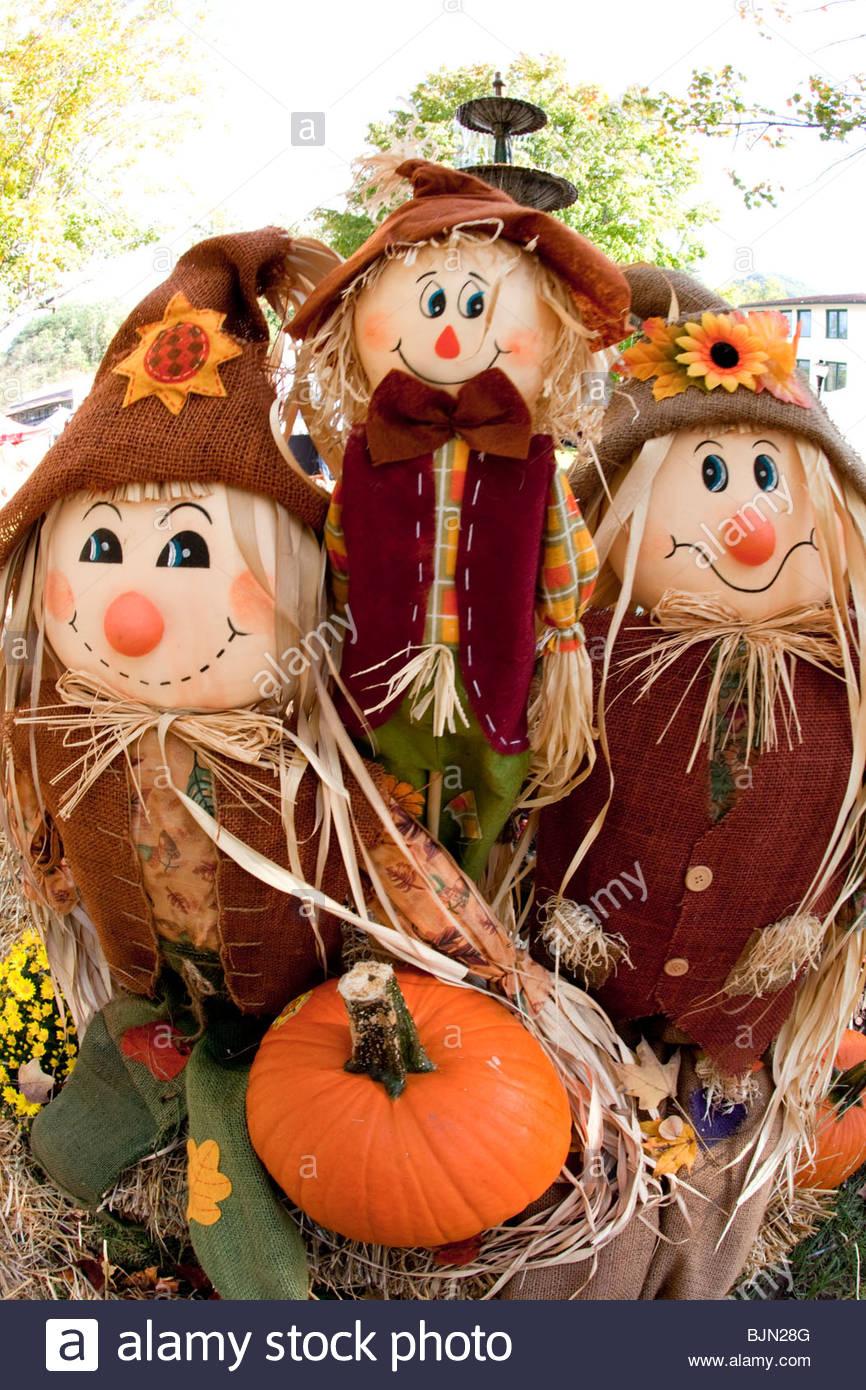 Scarecrow, Fall Festival, Lake Lure, North Carolina - Stock Image