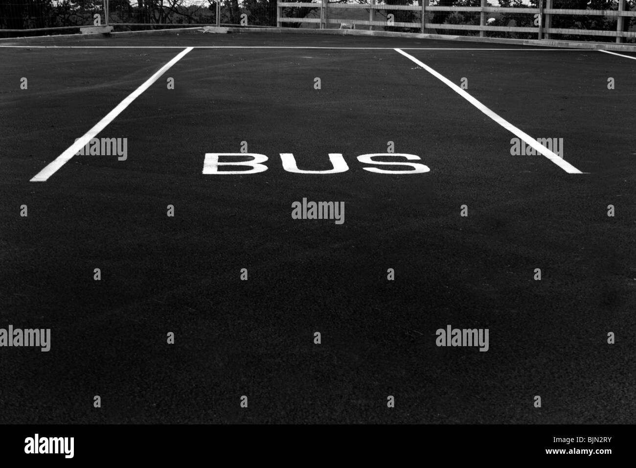 A space in Bus Parking lot - Stock Image