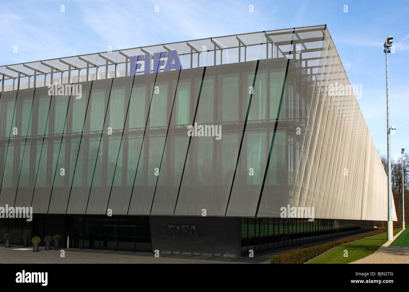 Home of FIFA, headquarters of the Fédération Internationale de Football Association, FIFA, Zurich, Switzerland - Stock Image