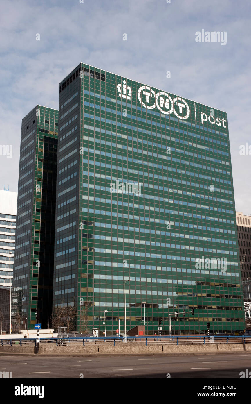 TNT postal company headquarters office tower in Central Business District in The Hague Netherlands Stock Photo