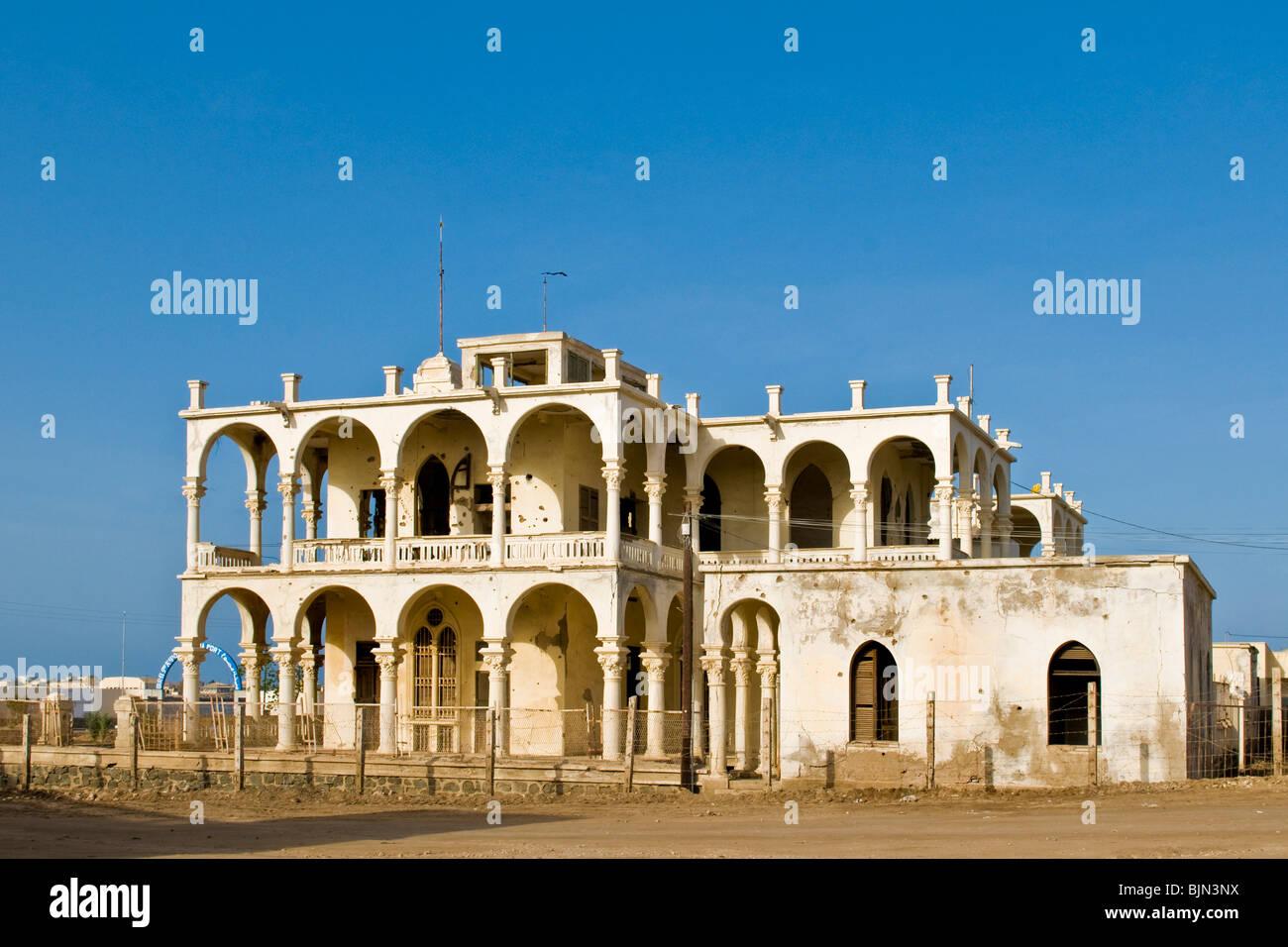 banco d'Italia, Italian bank, Massawa, Eritrea Stock Photo
