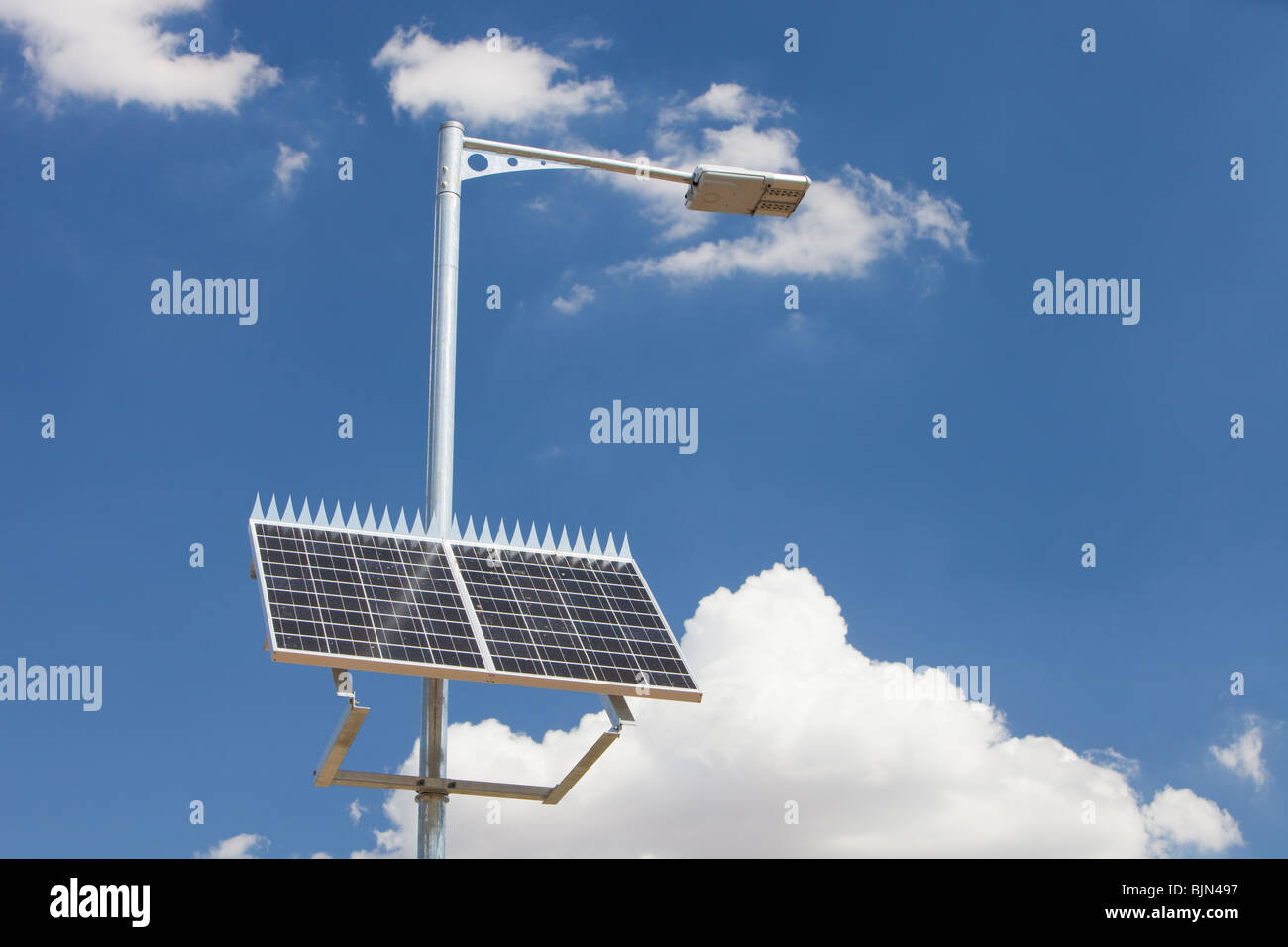 A solar powered street lamp in Victoria, Australia Stock