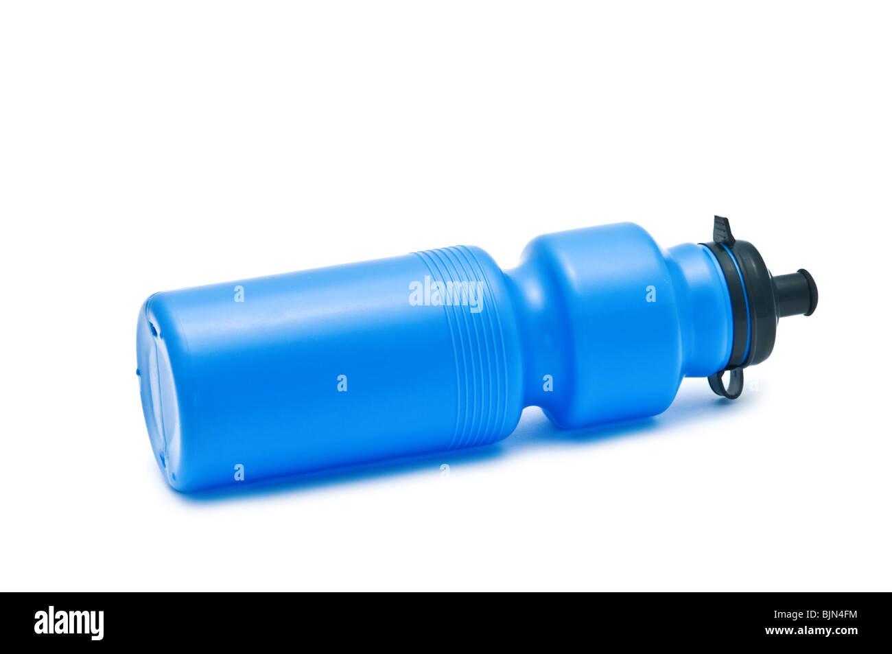 blue bike bottle isolated on white Stock Photo