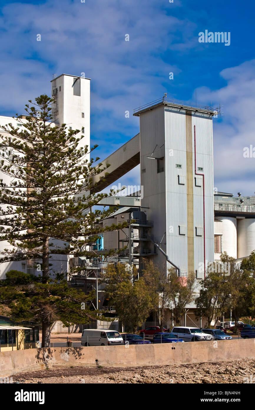 Grain Storage Facilities at Wallaroo Yorke Peninsula South Australia - Stock Image