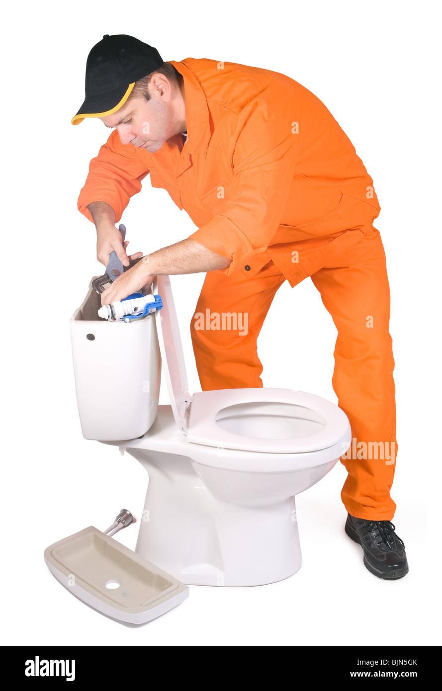 plumber mounted toilet bowl Stock Photo: 28739555 - Alamy