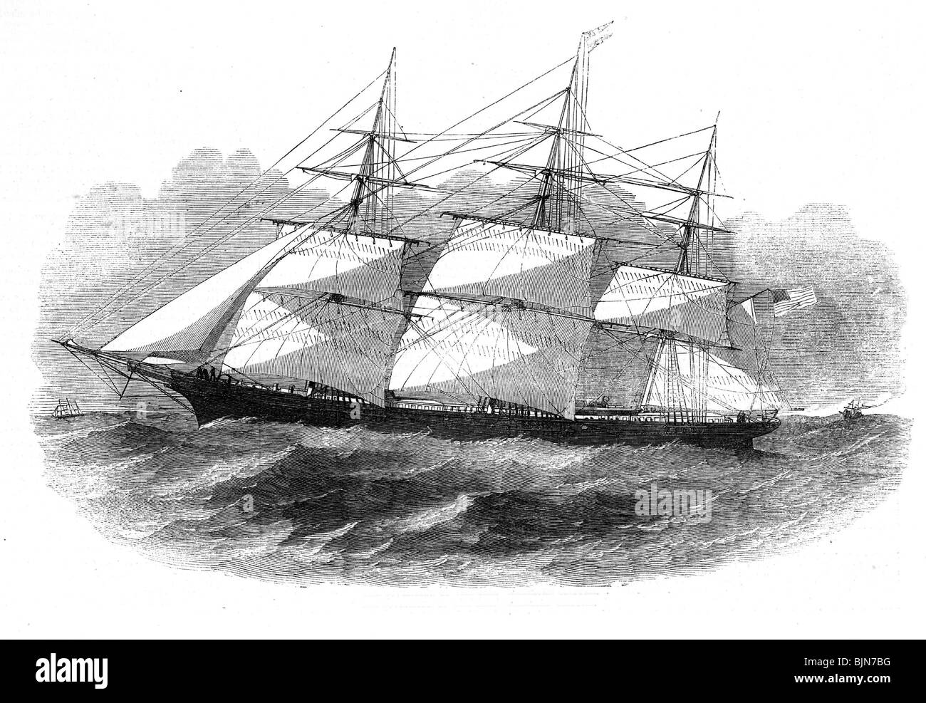 transport / transportation, navigation, sailing ships, clipper, 'The Sovereign of the Seas', American sailing - Stock Image