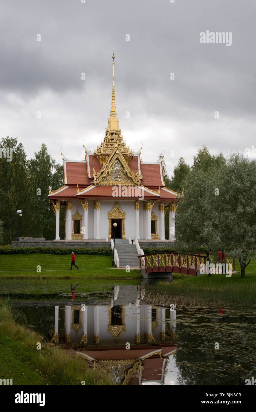 Buddhist temple in Northern Sweden - Stock Image