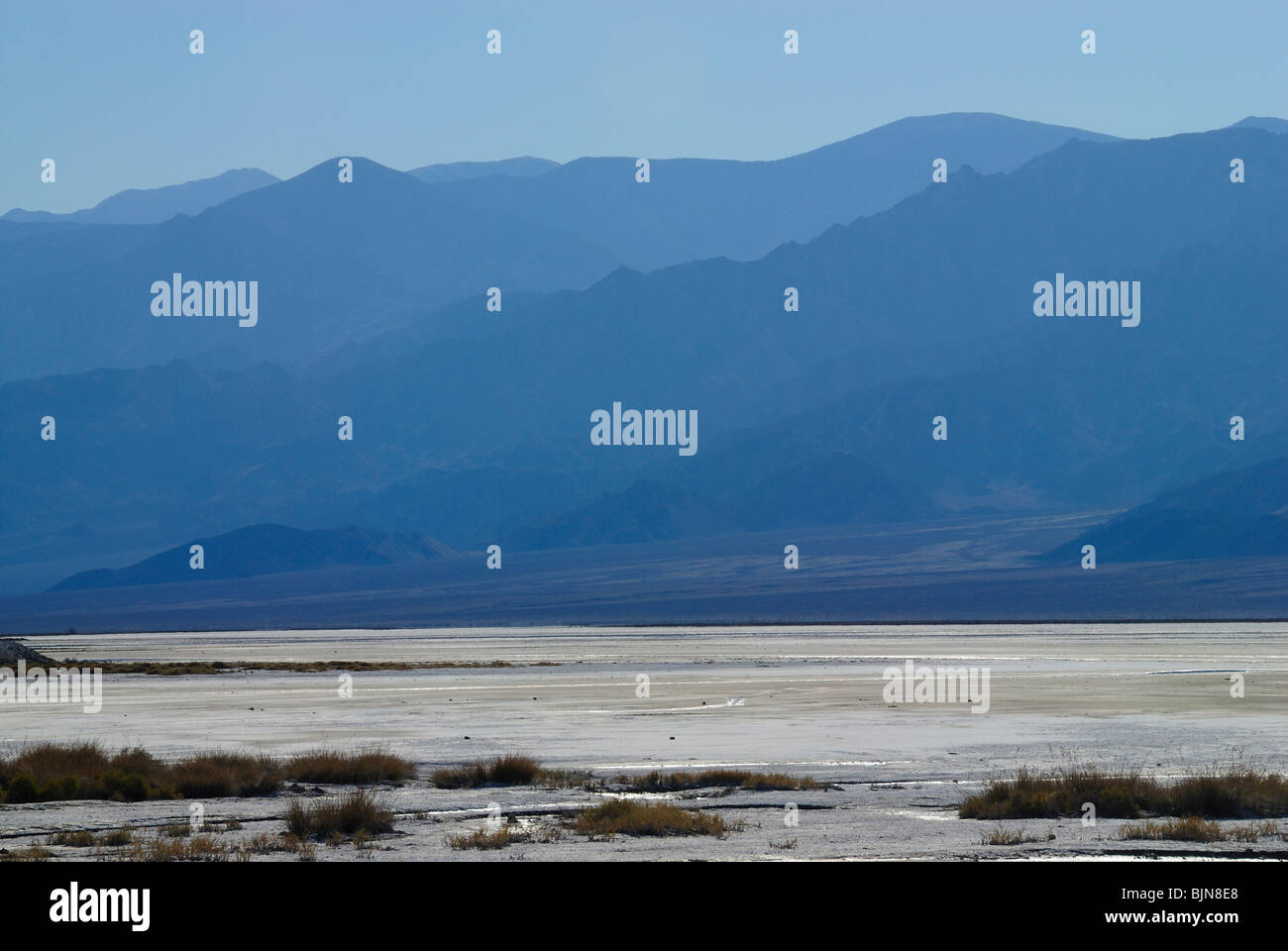 Shadows of Death Valley, California state - Stock Image