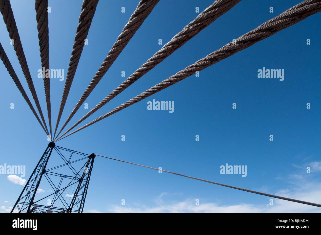 Wire Rope Bridge Stock Photos & Wire Rope Bridge Stock Images - Alamy