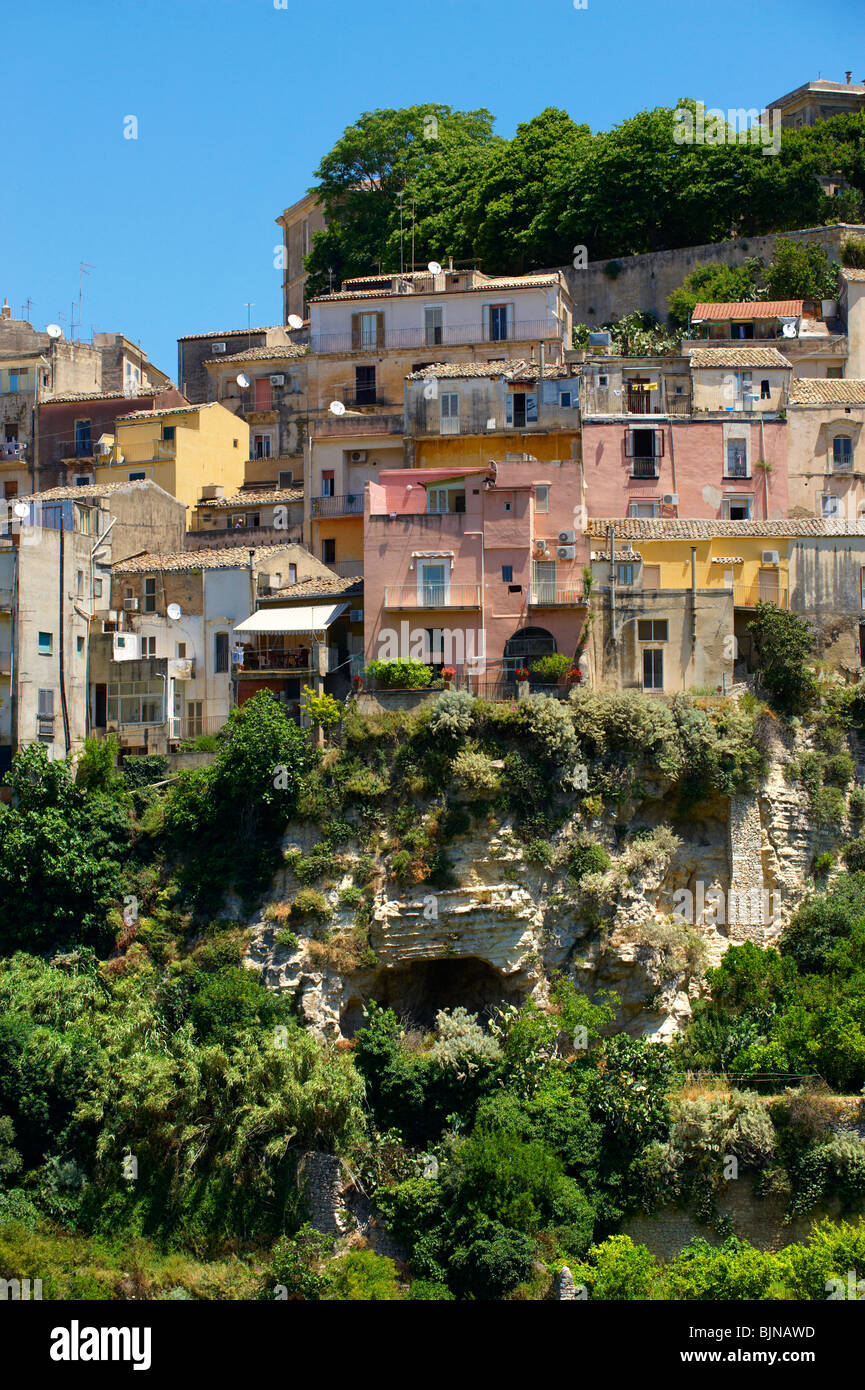 hill town of Ragusa Ibla, Sicily - Stock Image