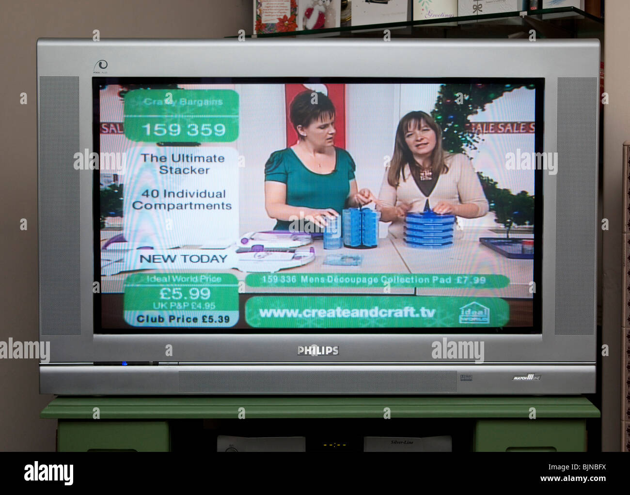 TV screen showing Ideal World shopping channel Stock Photo: 28744238