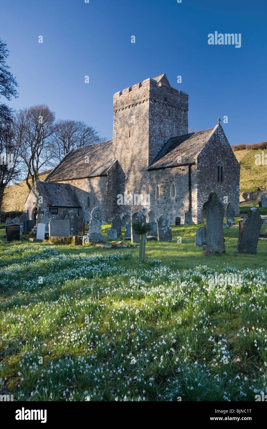 St Cadoc's church at Cheriton near Llanrhidian on The Gower Peninsula, South Wales, UK - Stock Image