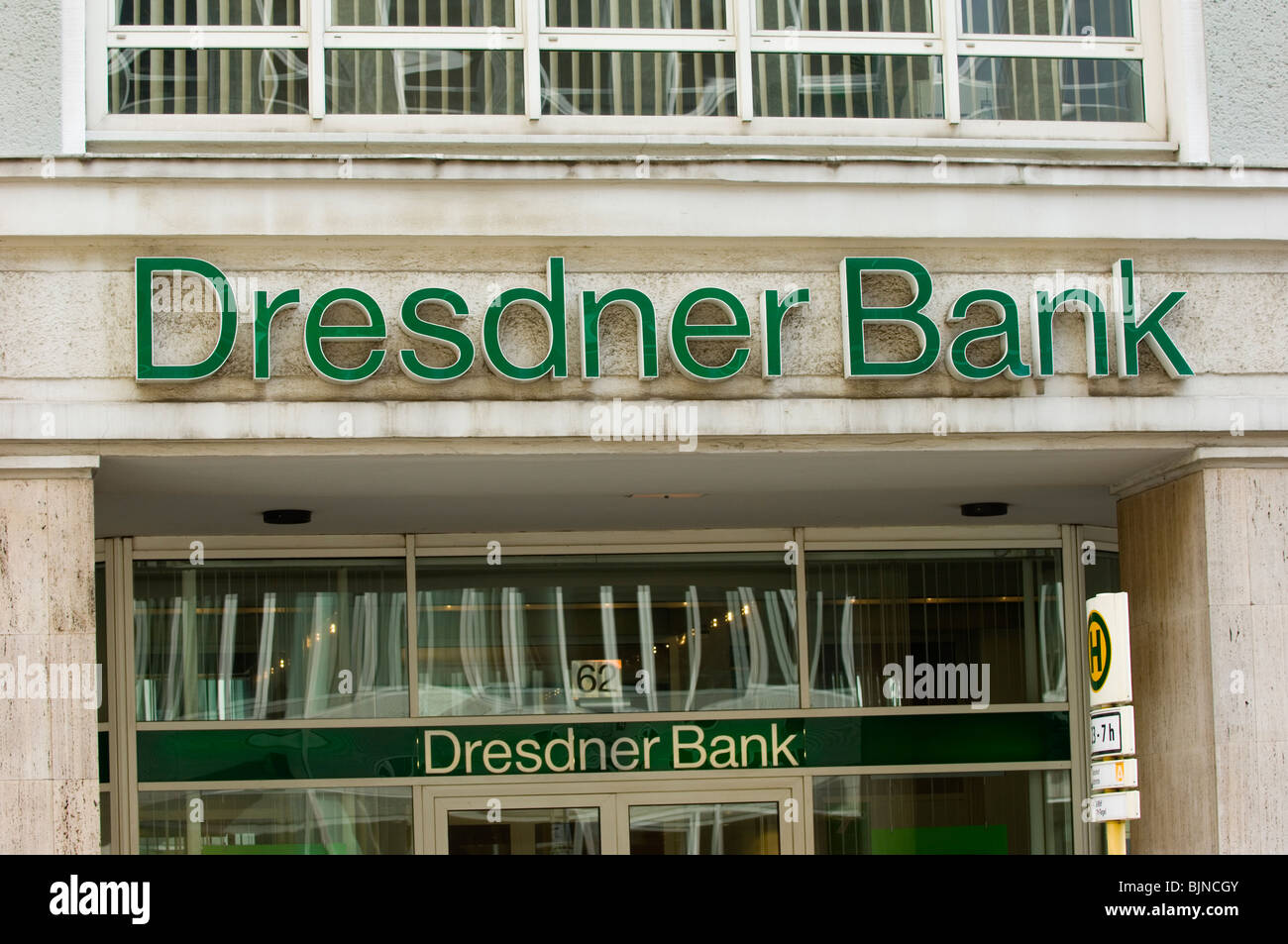 Dresdner bank Financial institution building exteriors Berlin Germany Europe - Stock Image