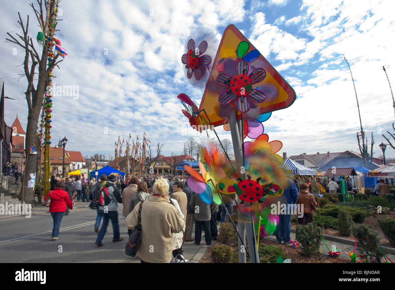 Easter Sunday Palm Contest in Lipnica Murowana, Poland - Stock Image