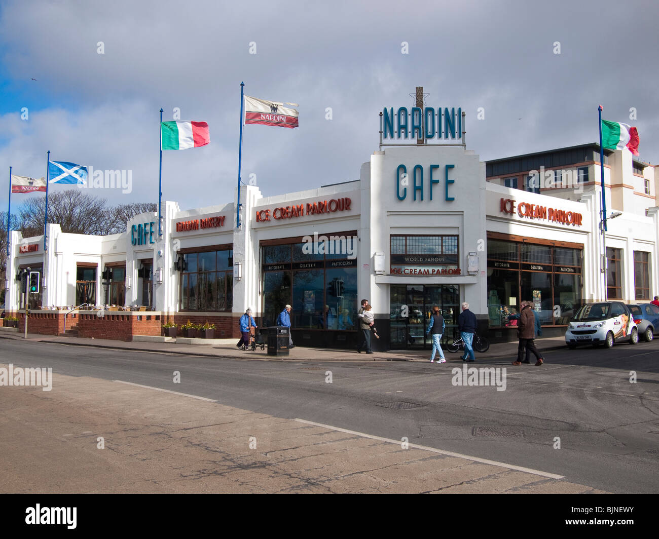 Nardinis Cafe, Largs, Scotland - Stock Image